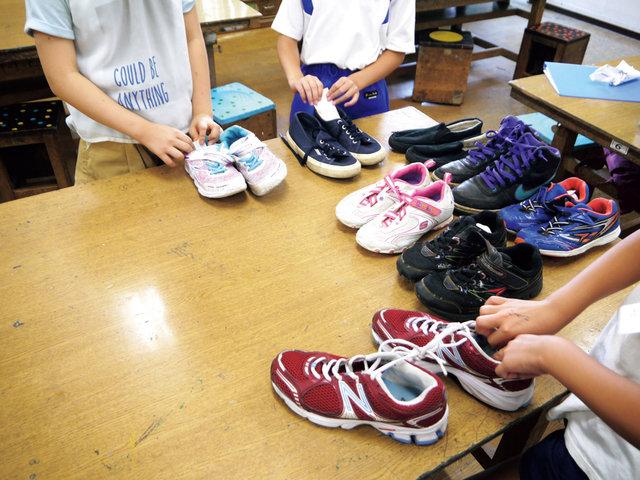 東京と名古屋の小学校で行われた、シューズ回収活動。子どもたちにはたくさんの気づきがありました。