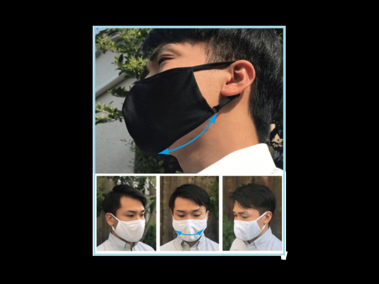 口元ゆったり、夏に最適な吸汗速乾・制菌素材を使った「超立体・洗える布マスク」誕生です。