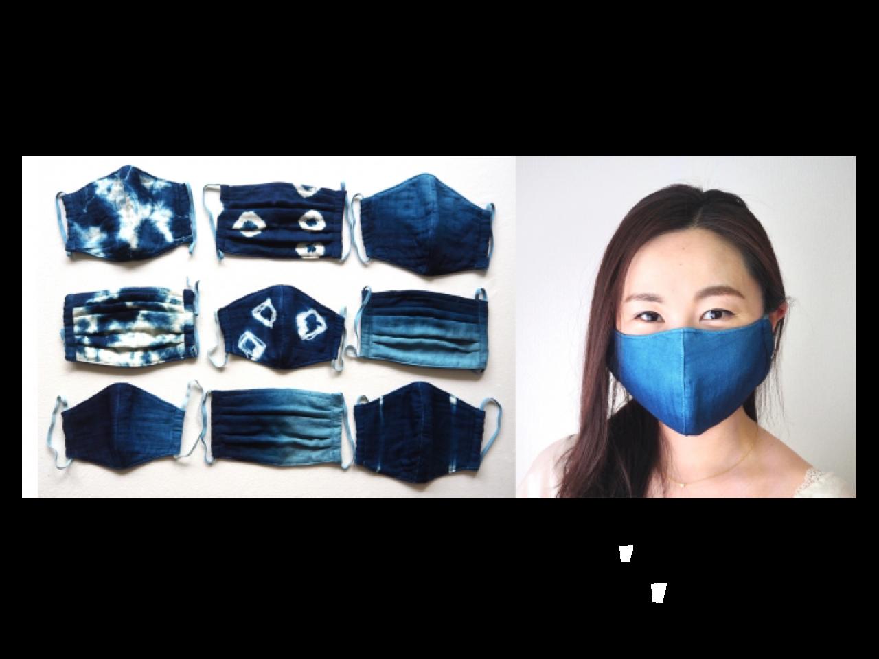 福岡・久留米絣の老舗と共同開発。何時間使ってもサラサラな藍染めガーゼ快適サラサラマスク誕生です。