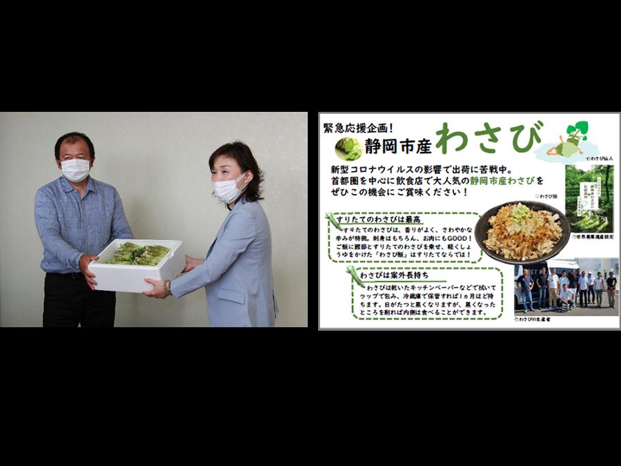 世界農業遺産認定の伝統食材を守る。400年の歴史を持つ静岡特産「わさび」の産地応援企画です。