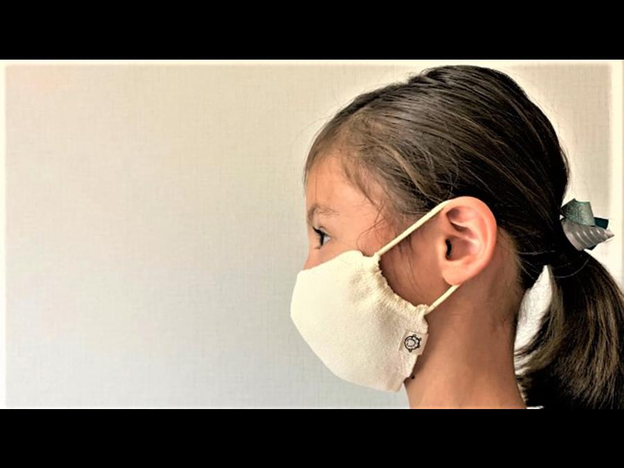 発売1週間で1000枚売上の和紙素材マスク、子ども用が新発売です。肌にやさしくひんやり触感。