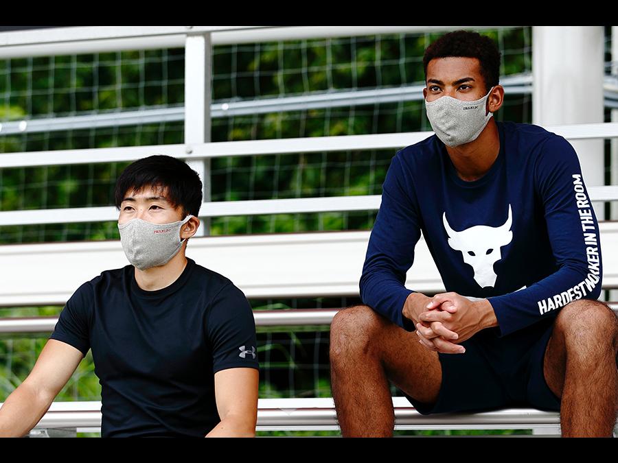 100回洗える夏マスク。いわきFCロゴ入り「いわきFC