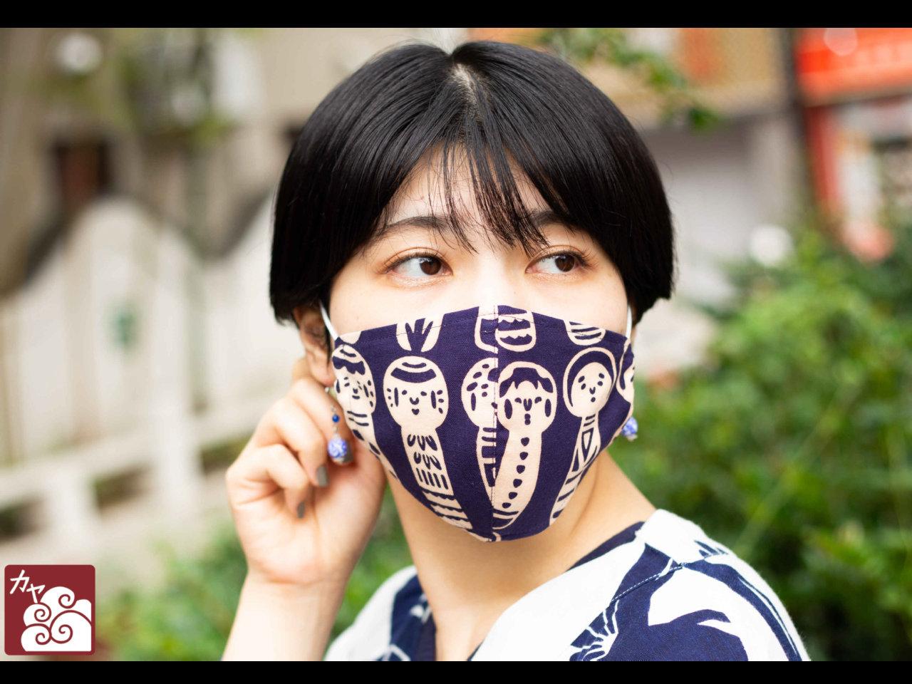 1枚1,320円。和柄マスクに新柄登場。彩り豊かに「動物」や「日本の民芸」柄のマスクです。