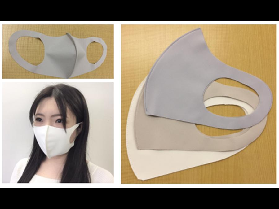 1枚398円。つけた瞬間ひんやりムレにくい「洗って使えるフィットマスク」のグレーが入荷しました。