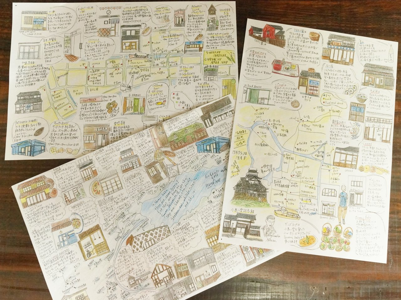 地域を知り尽くした人が描くからこそ伝わるまちへの愛情。島根県松江市で広がる「手書き地図」