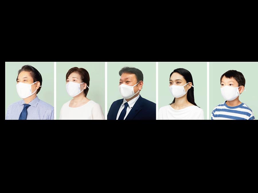 累計販売400万枚突破。10枚2700円。アジャスター付きダブル抗菌・洗えるクールマスク新発売。