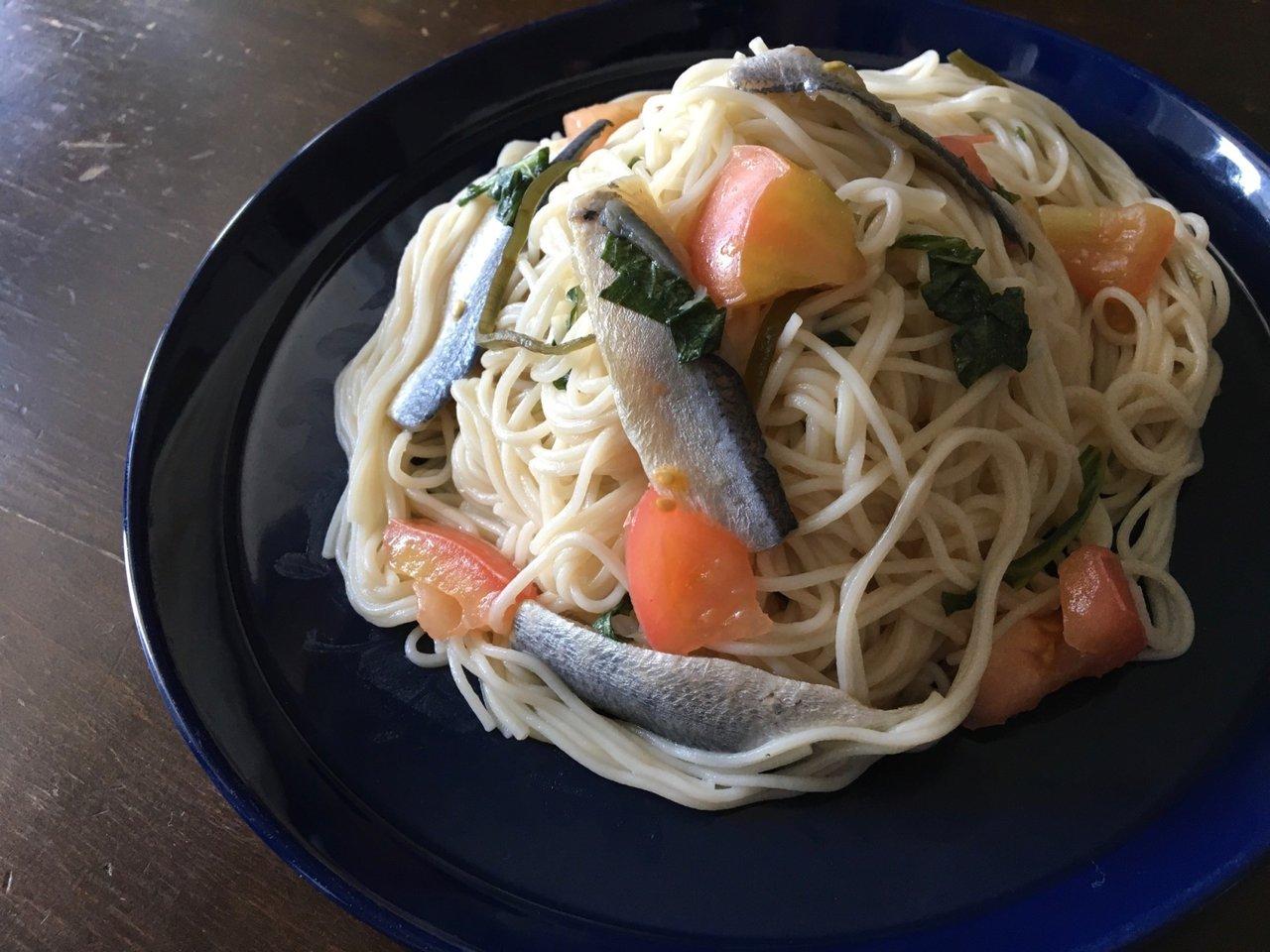 余ったそうめんや野菜と和えるだけ!岡山の郷土料理「ままかり」の冷製パスタ