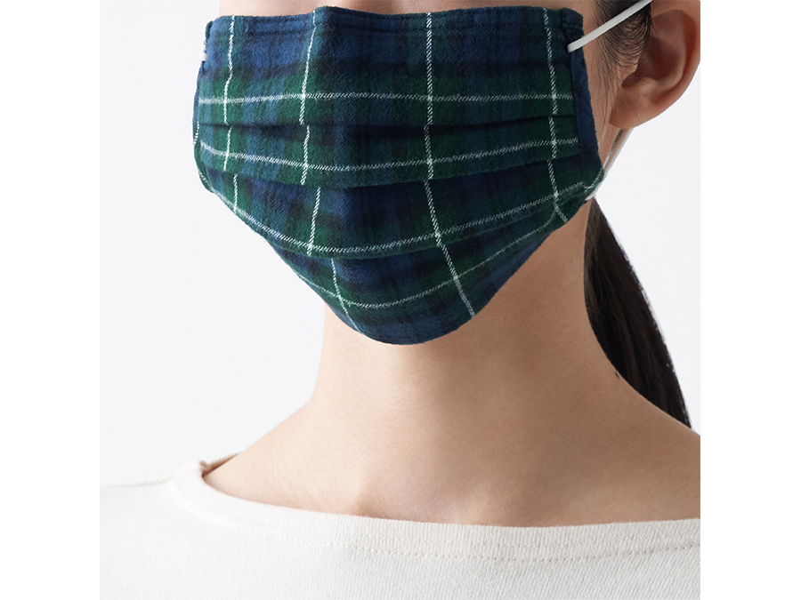 1枚999円。無印良品からオーガニックコットンの残布を活かして作った秋素材マスク発売です。