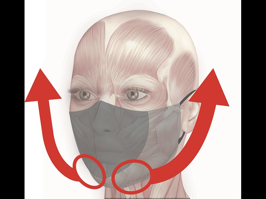 マスク生活で疲れた表情筋をやさしく刺激!フェイスラインがすっきり見える「きもちあげマスク」