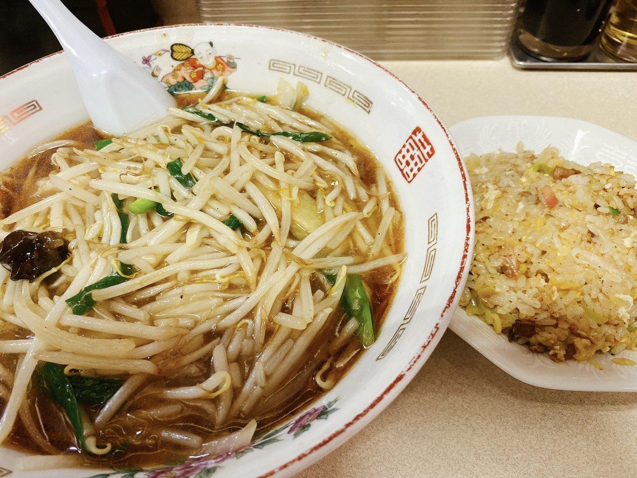 東京ローカルのおいしいラーメンがたべたい もやしラーメンと半チャーハン