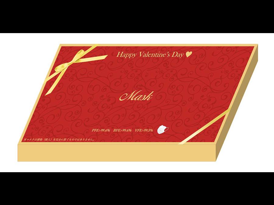 99.6%ウィルスを捕集『JAPAN-MASK』。贈り物にピッタリのバレンタインデザイン登場。