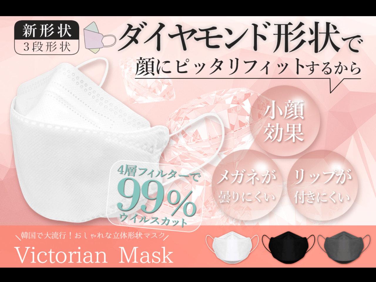 専門家も推奨!メディアでも話題の進化した不織布の新形状マスク『Victorian