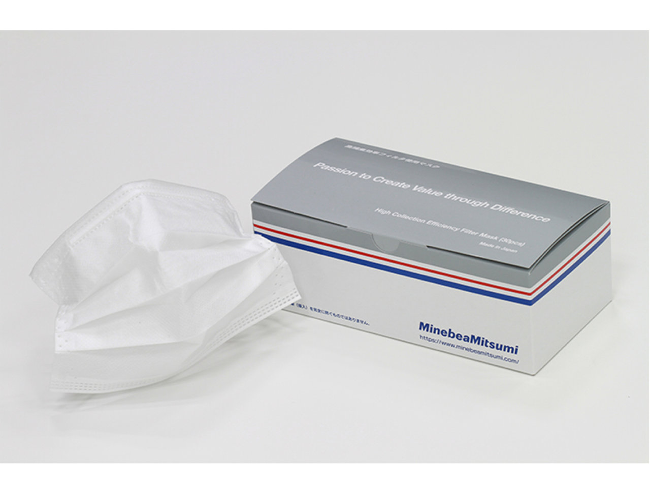 ミネベアミツミ日本製不織布マスク、新価格・ラインナップ拡充でお求めやすくなりました。