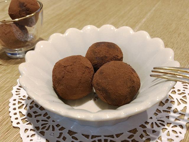 まるでチョコ!北海道産豆腐と米粉で作ったヘルシーなトリュフ ※チョコレート不使用で作れます