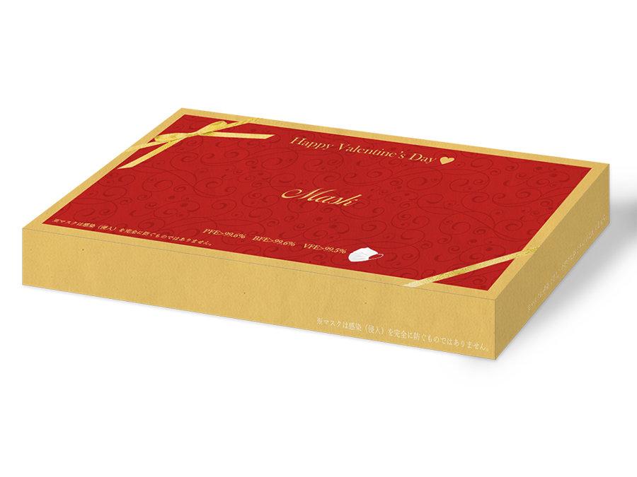 99.6%ウィルスを捕集する『JAPAN-MASK』のバレンタインデザインが追加販売中。