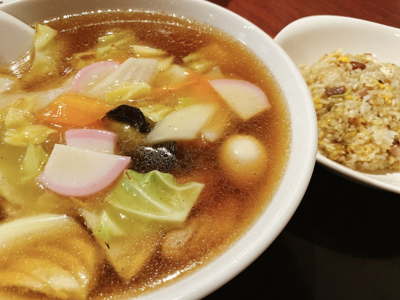 東京ローカルのおいしいラーメンがたべたい|野菜あんかけそばと半チャーハン