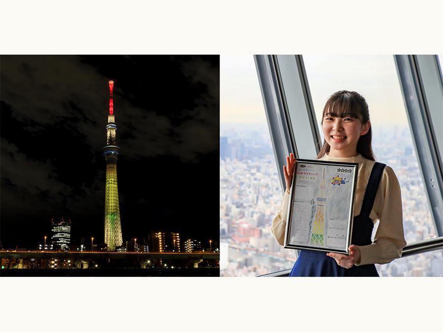 東日本大震災で被災された地域の復興への想いを込めて、特別ライティング「明花」を3月11日に点灯。