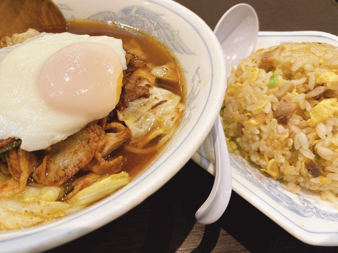 東京ローカルのおいしいラーメンがたべたい 香港麺と半チャーハン