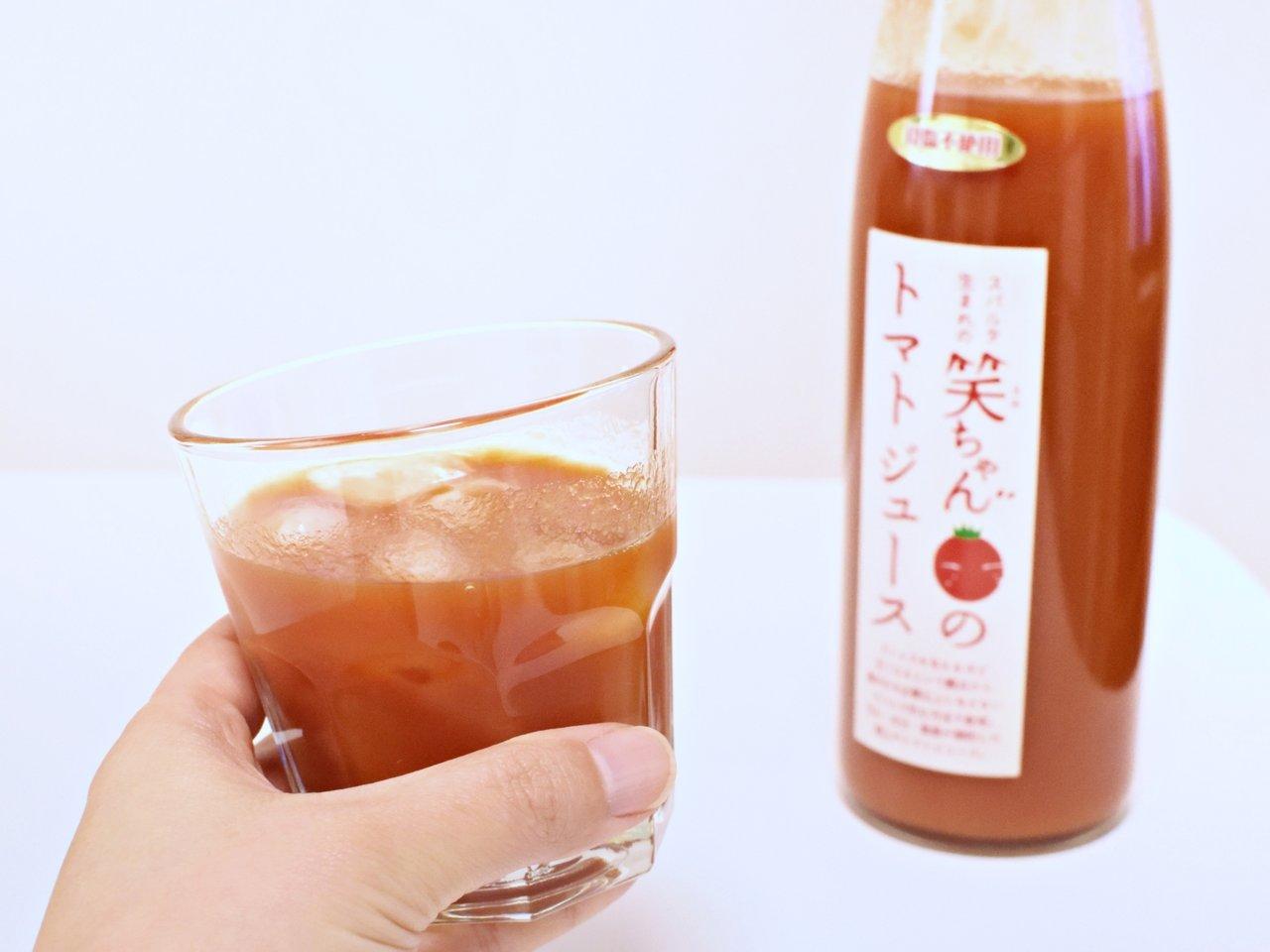 コンクリート会社がつくる濃厚トマトジュース「スパルタ生まれの笑ちゃんのジュース」