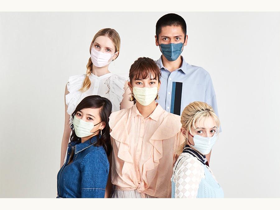 フェイスラインがスッキリする不織布マスクは5枚1,100円。D.masqueが4/5日より再販!