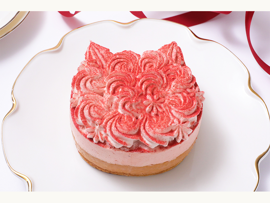 猫もいちごも好きなら、「ねこねこチーズケーキ」の「ねこねこWチーズケーキ