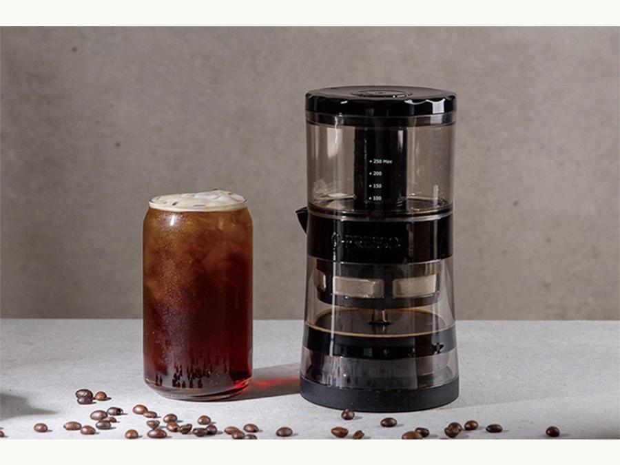 4分でコールドブリューコーヒーができるコーヒーメーカー「G-PRESSO」を展示販売