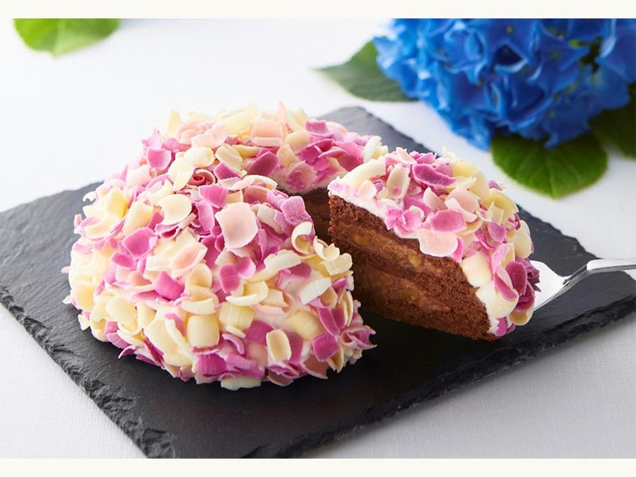 初夏を彩る鎌倉の新しい手土産。あじさいモチーフのケーキ「てまり花」新発売