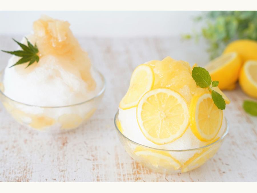 ハニーレモンとハニージンジャーのかき氷