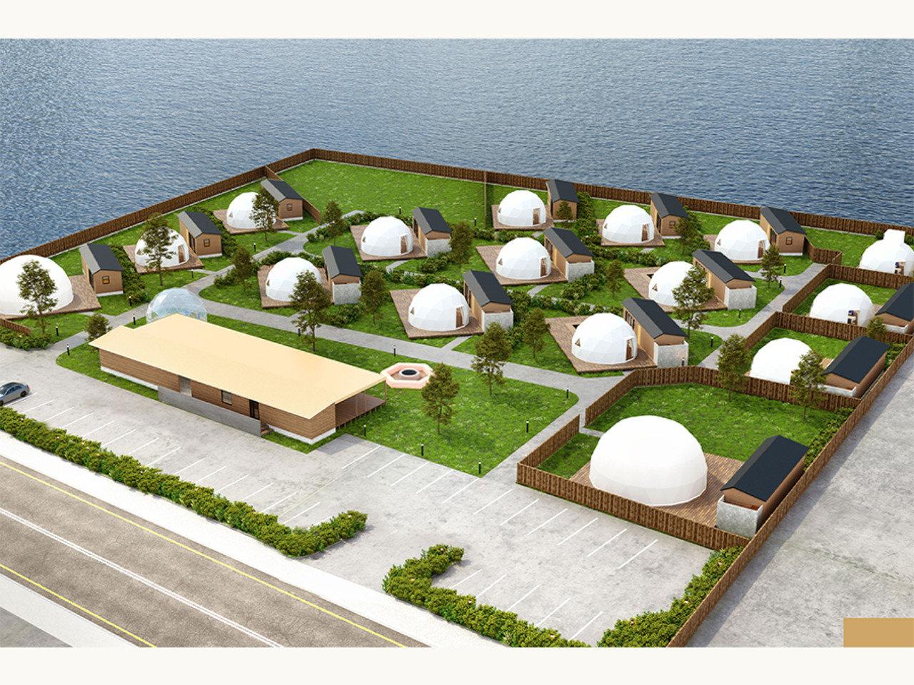福岡に16棟のドーム型グランピング施設≪九州シーサイドグランピング