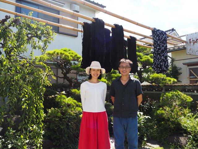 下川織物さんと小倉さん