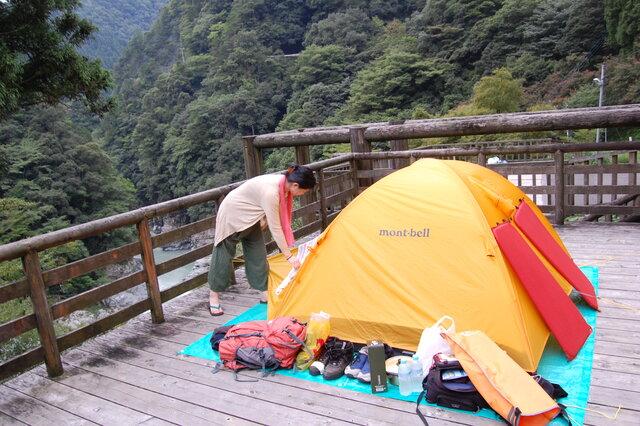 四国旅中のキャンプ風景