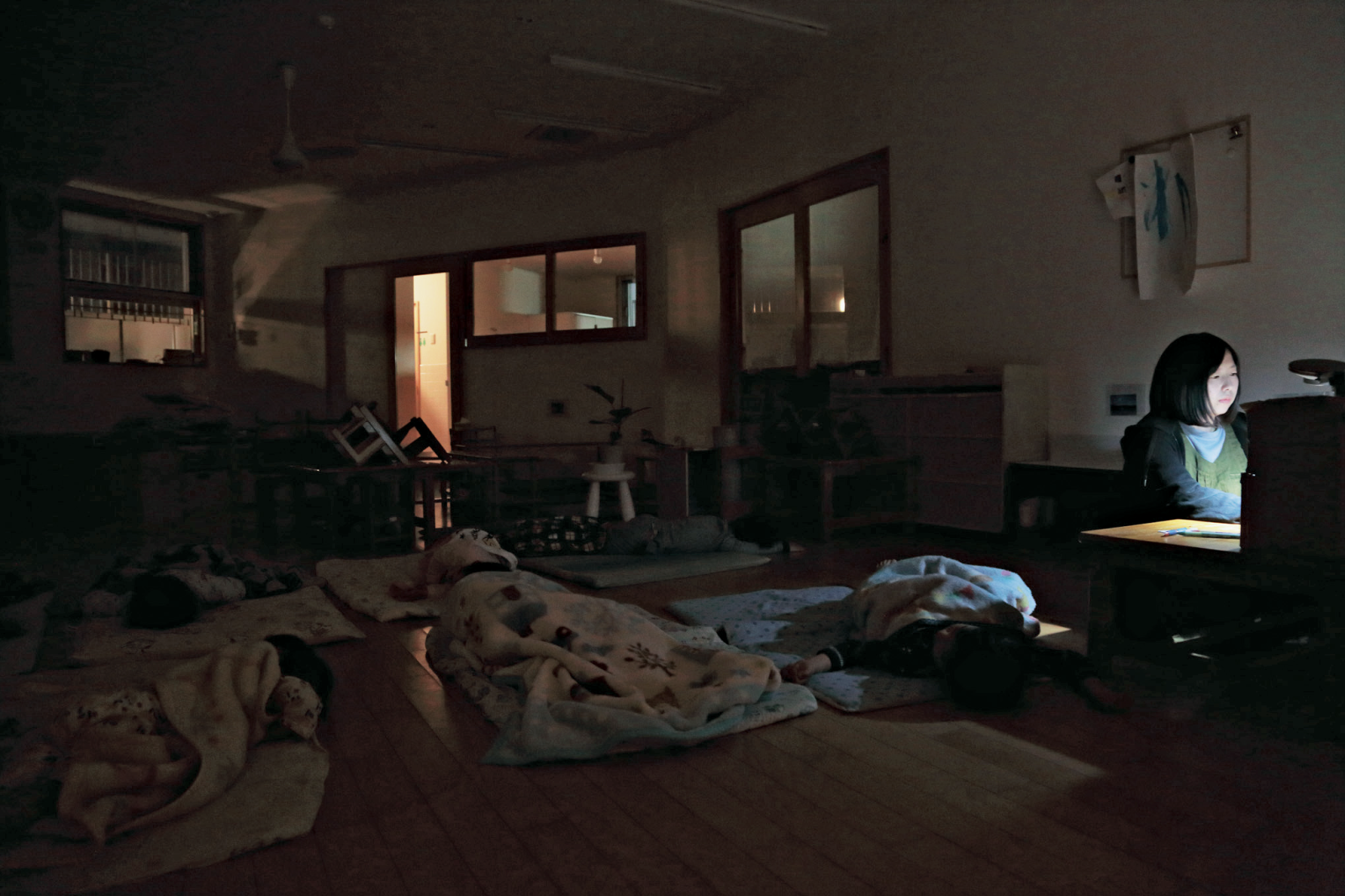 深夜の保育園