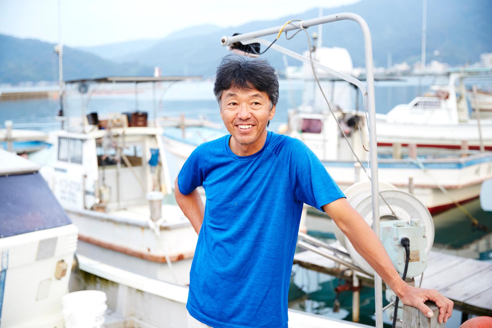 国立水産試験場を退職後、プロの漁師に。トリ貝の養殖にも力を注ぐ。「シェフや料理人とつながると、こちらの思いが伝わっていくと感じます」