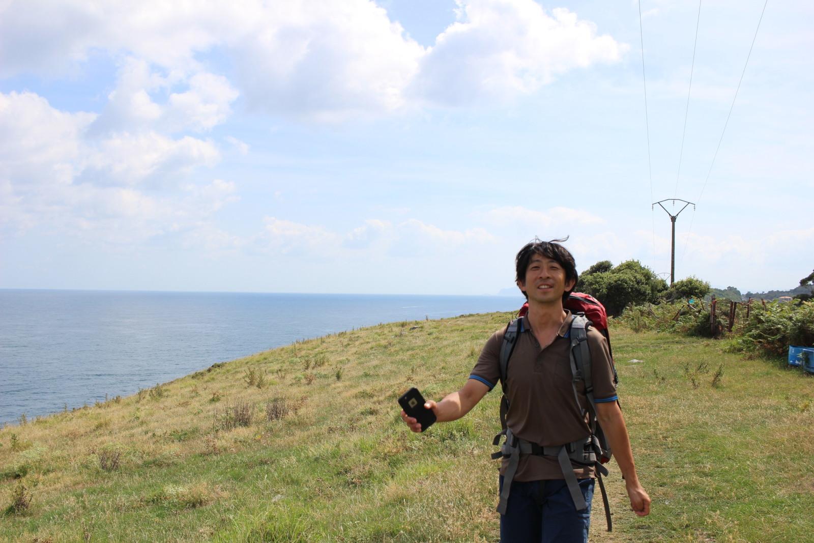 田村さんが夏季休暇を利用してスペイン巡礼に訪れた際の写真