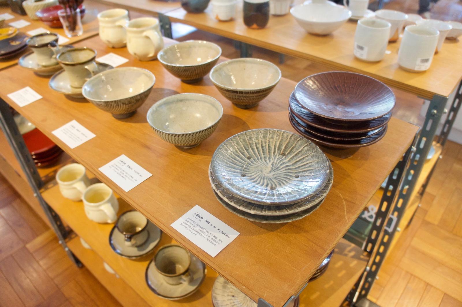 安川ゆかりの民藝コレクションの展示販売