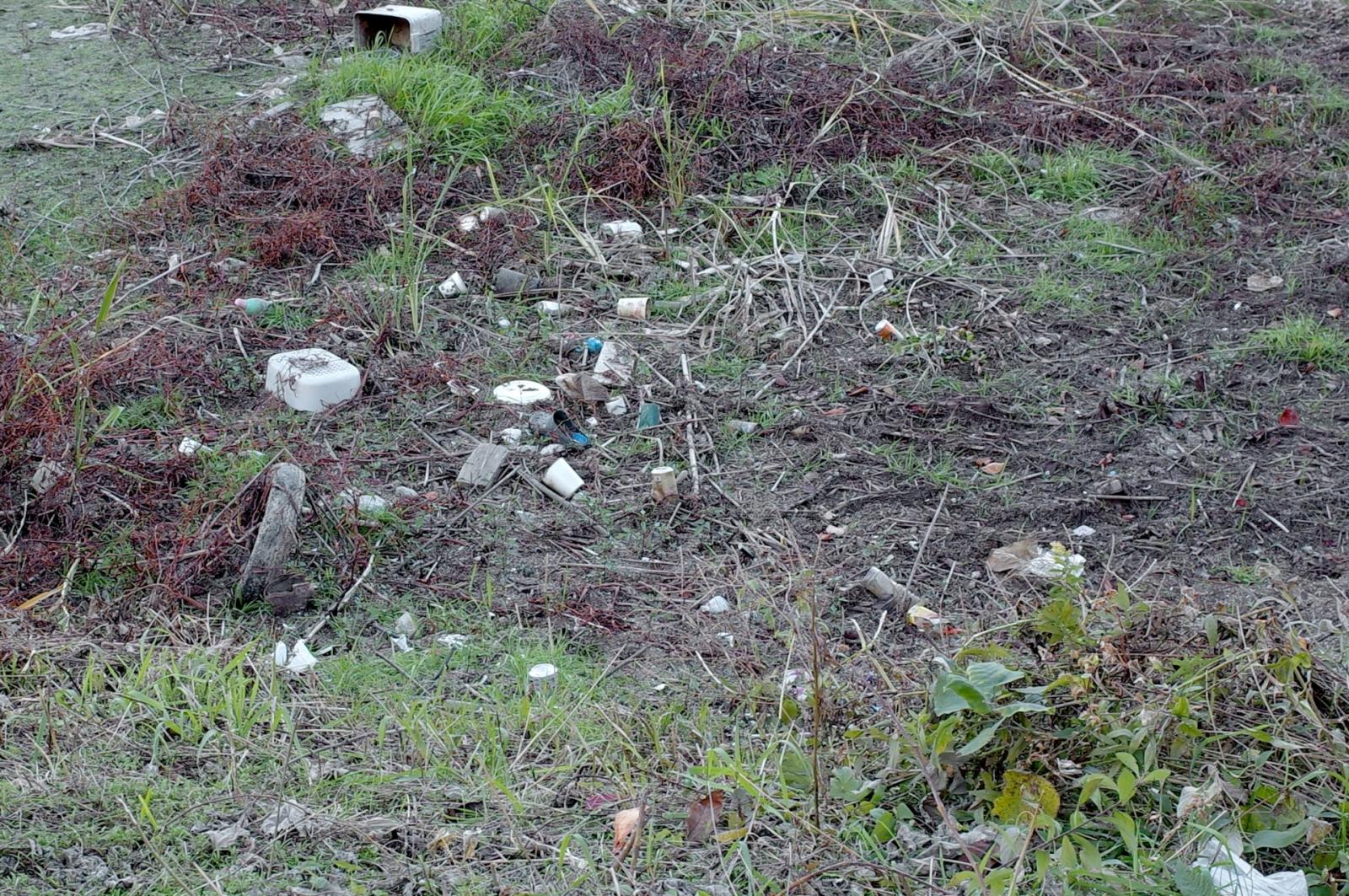 登山道の途中で見つけたゴミ