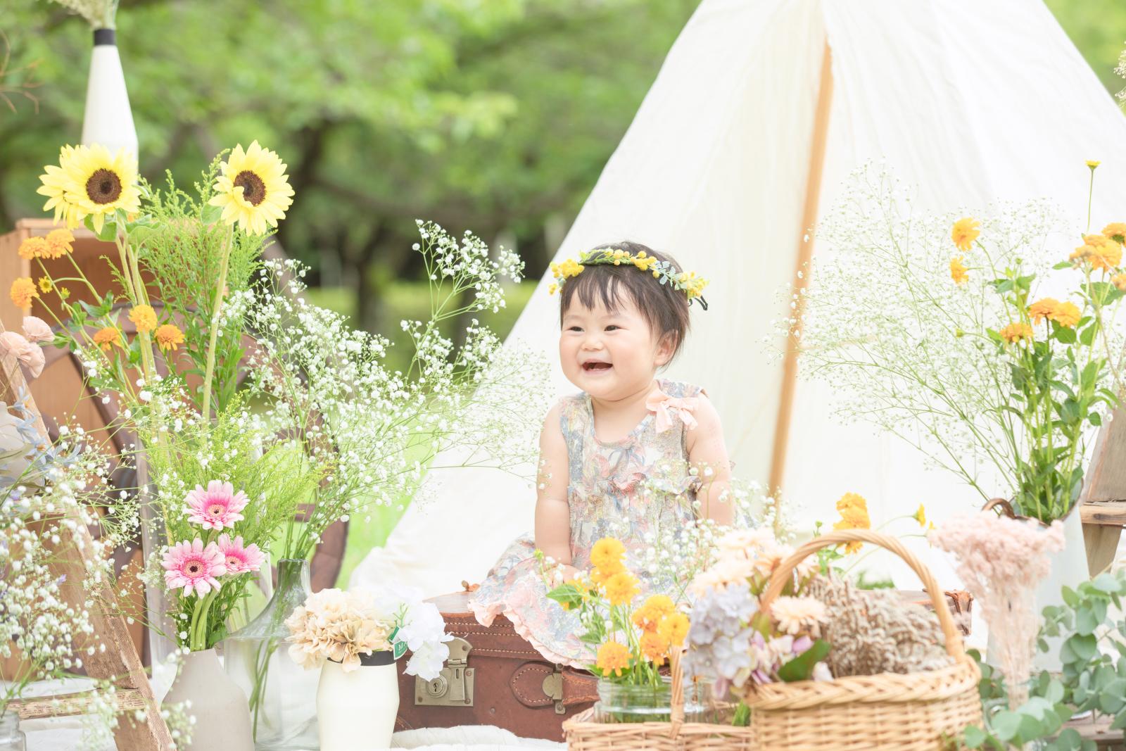 花いっぱいの写真