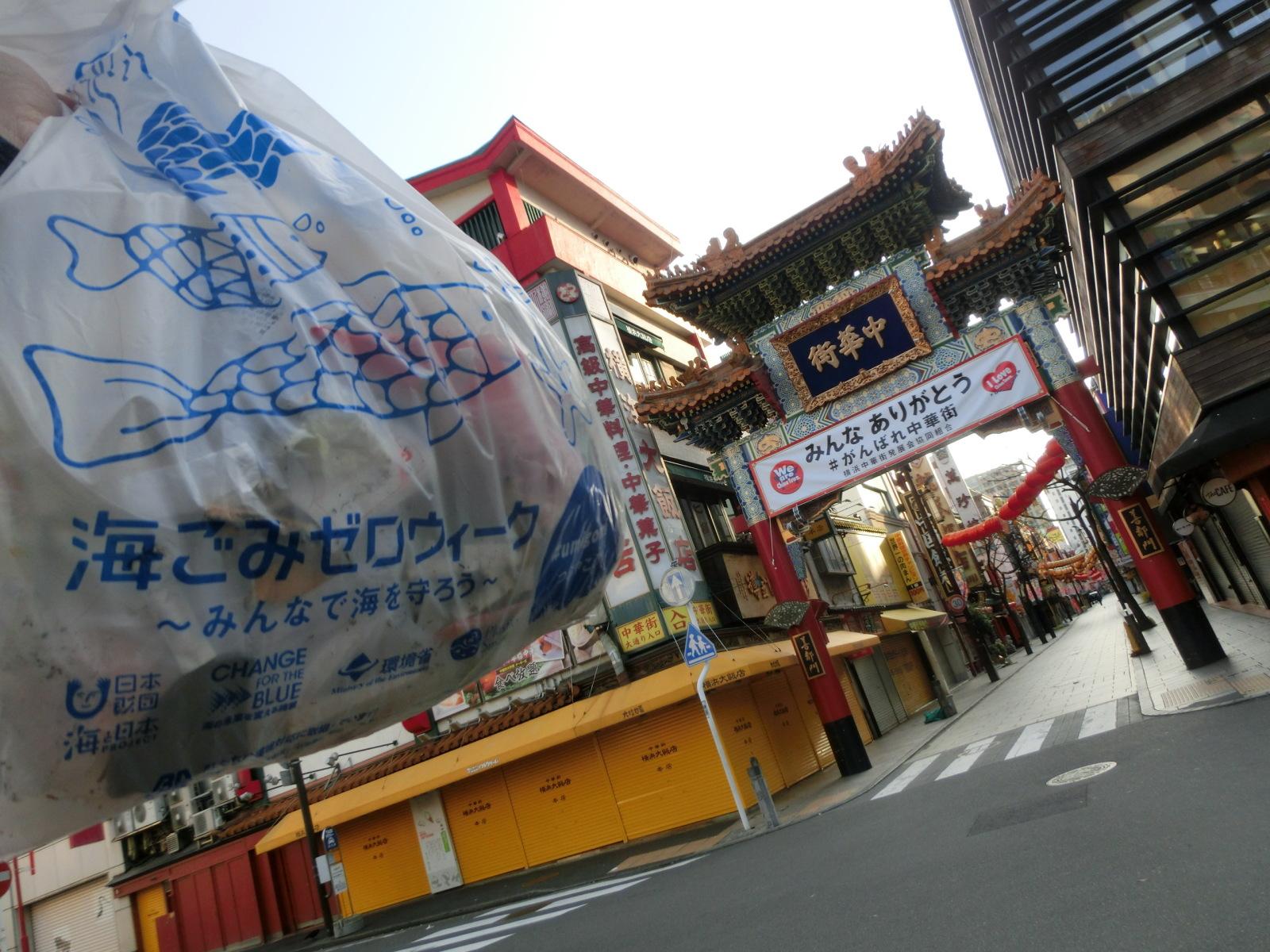 客足が減っても中華街をきれいに保ちたい。街への思いやりの表れ