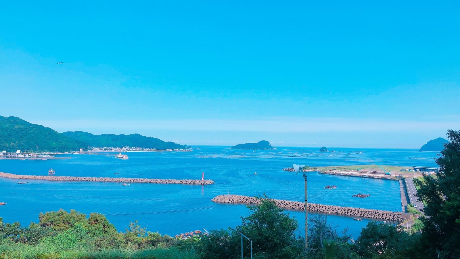 海に面した宮崎市の様子