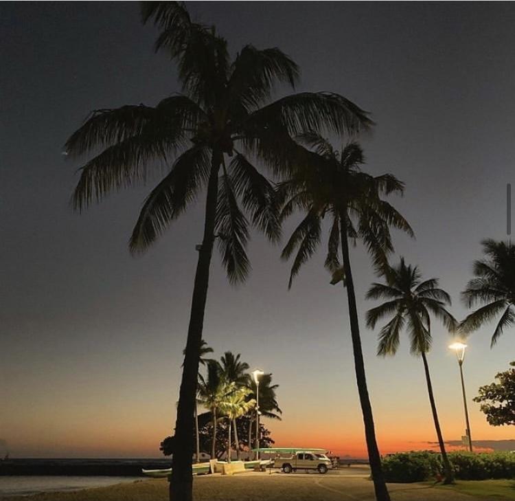 ハワイ夕景