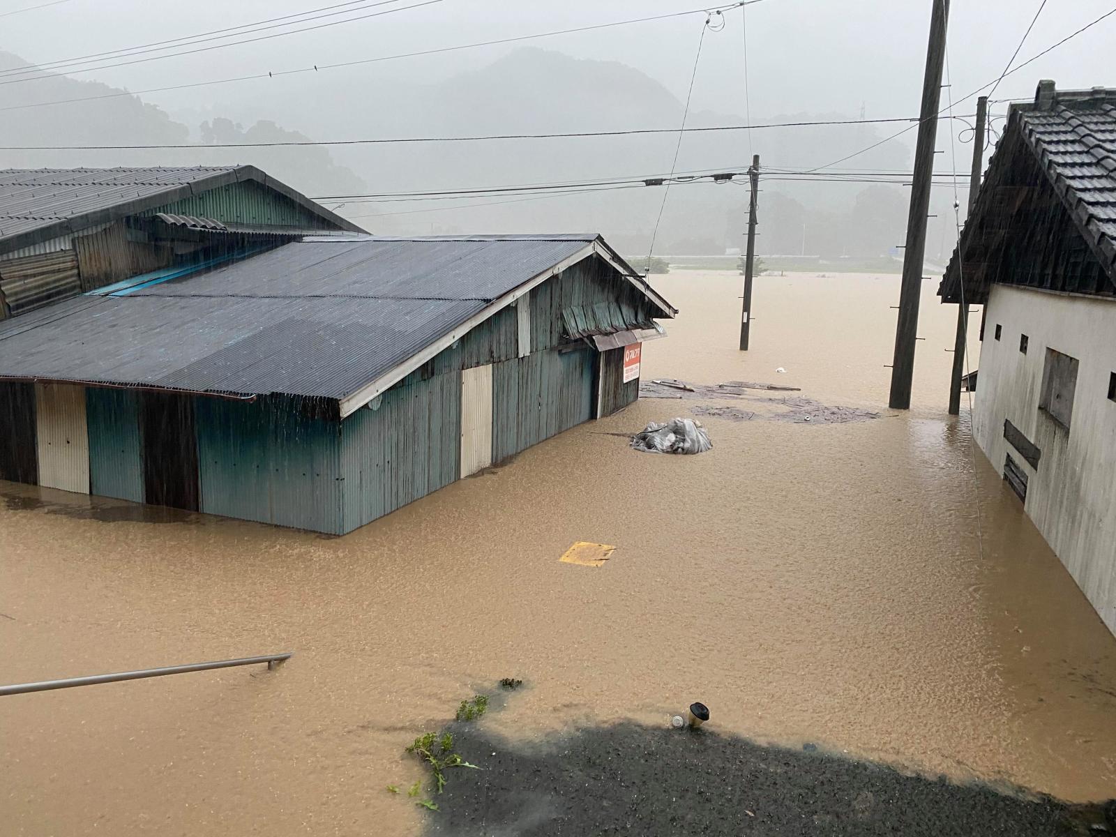 『令和2年7月豪雨』で被害を受けた釜さんの自宅近くの様子