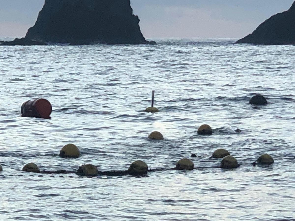 沖合に浮かぶスマートブイ