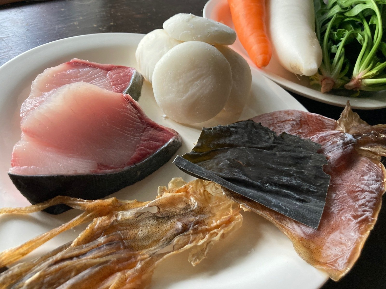岡山県北の雑煮の材料