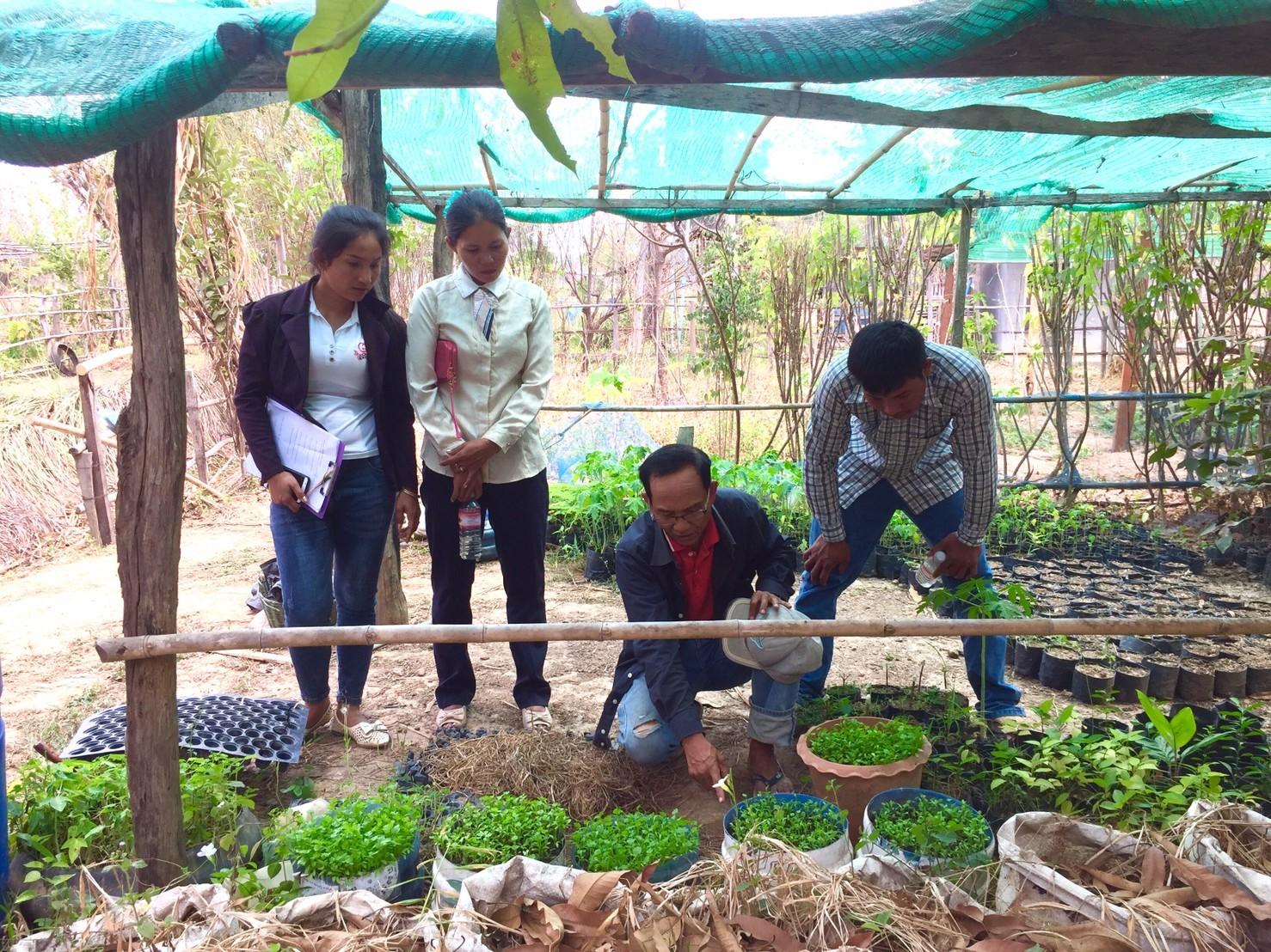 少ない水で野菜栽培ができる技術研修
