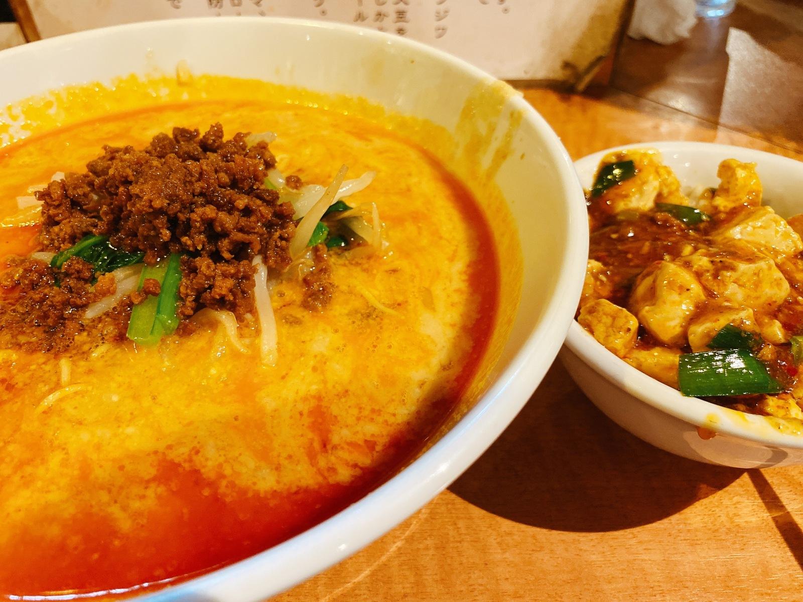 担々麺とミニ陳麻飯