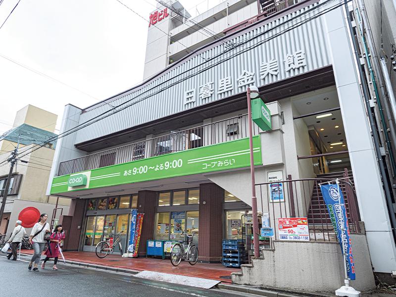 元『日暮里金美館』、そして『元映画館』となる場所(東京都荒川区東日暮里3-31-18)はスーパーが入った建物の2階にある。