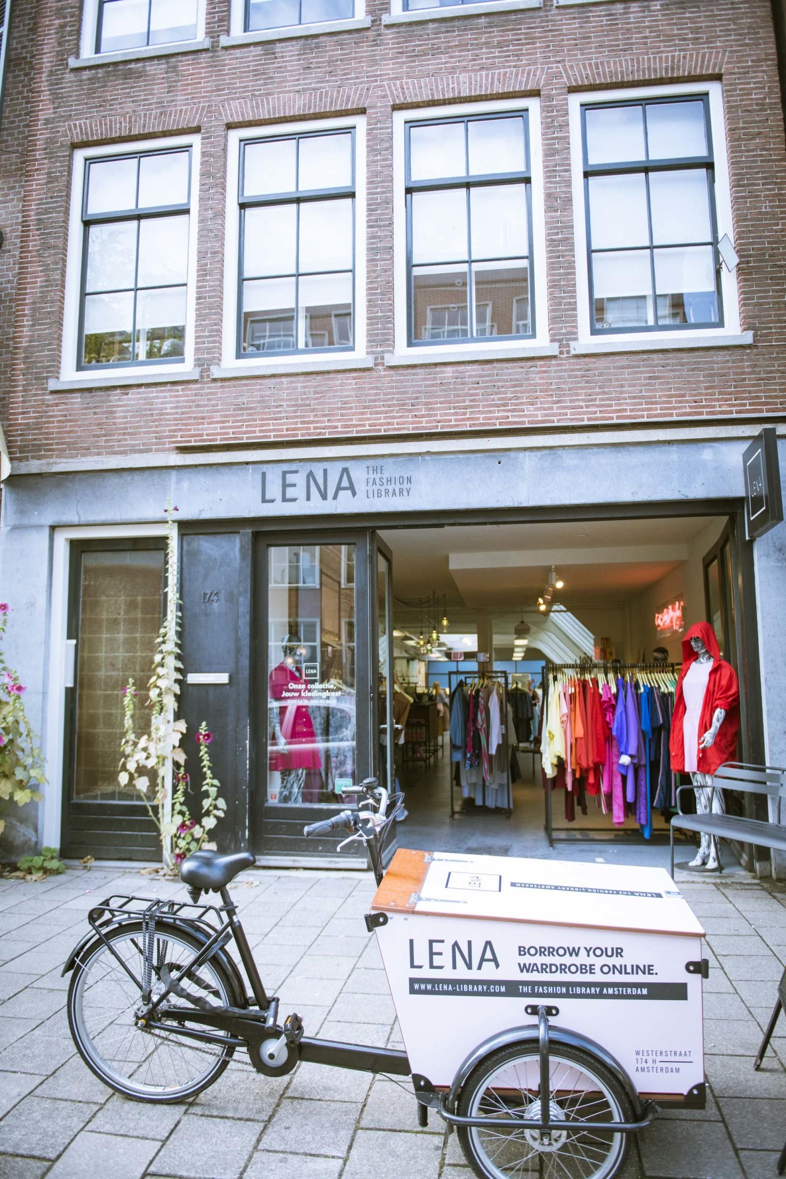 『LENA the fashion library(レナ・ザ・ファッションライブラリー)』。アムステルダムには洋服のシェアリングサービスも。日本でも同様のサービスが増えている。