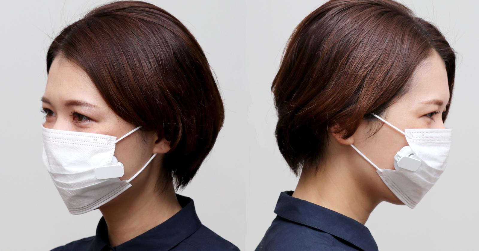 ②小型でマスクに馴染みやすいデザイン