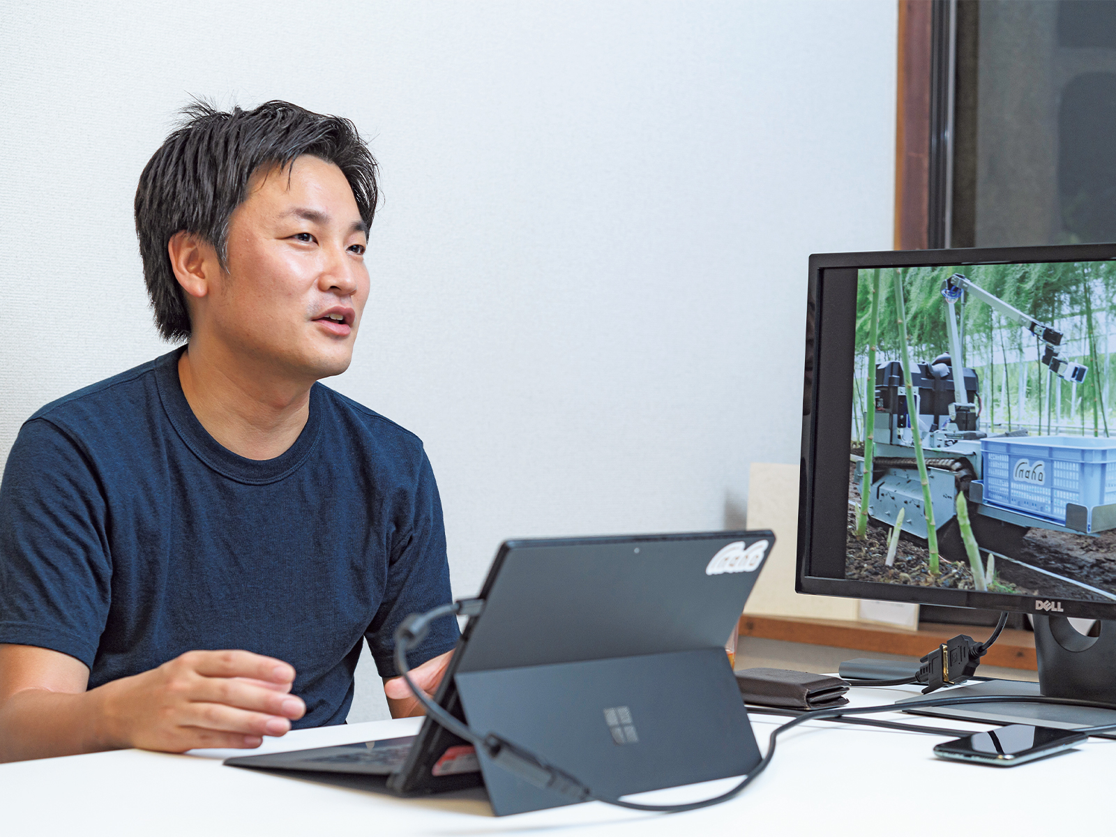「農業は成長産業です」と語る、『inaho』代表取締役CEO・菱木豊さん。