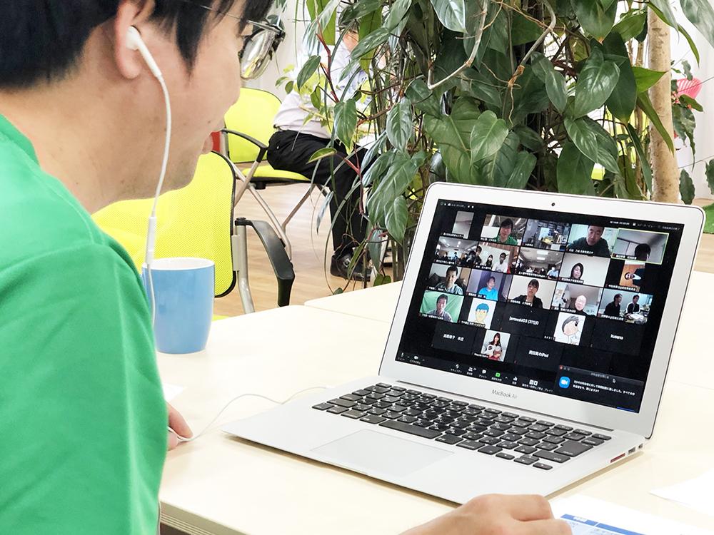 メンバーが企画運営した、学校教員向けのオンライン研修。100名を超える学校教員の皆様がオンライン上に集まりました。